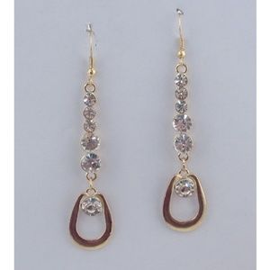 New Hoop Drop Multi Rhinestone Earrings